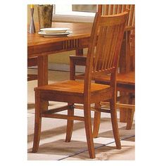 Amazon Coaster Mission Style Dining Table Burnished