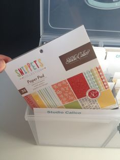 6x6 paper pads in large organizer from CTMH