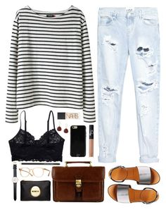 Comfort Class by vogue-breakfast on Polyvore featuring polyvore, fashion, style, Wood Wood, One Teaspoon, Monki, Retrò, Mimco, Daniel Wellington, Karen Kane, Sonix, Oliver Peoples, McQ by Alexander McQueen, NARS Cosmetics and clothing