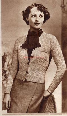 9d088ae0e 1930 s Bestway Jumpers for Style and Beauty PDF - Vintage Knitting Pattern  - 1930 s Jumper - Sweater - Cardigan