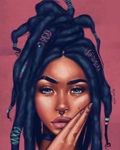 Super Ideas for black art painting Black Love Art, Black Girl Art, Black Girls, Black Women, Black Art Painting, Black Artwork, African American Art, African Art, Arte Black
