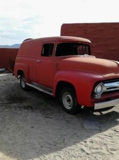 1956 Ford F-100 Panel Truck - looks like the one I had, only mine never made it out of primer grey (not primer rust), until I sold her to a restorer.