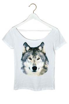 Wilko   Wyjec - damski ti-szirt z ciętym dekoltem. Koszulka bawełniana.