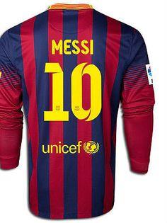 d0fddae94af NIKE MESSI FC BARCELONA LONG SLEEVE HOME JERSEY 2013/14 FOOTBALL LA LIGA  SPAIN.