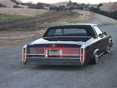 The back of a 1982 Cadillac Coupe Deville