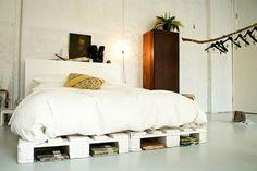Die 60 besten Bilder von Paletten Bett | Bett, Palette und ...