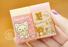 Voilà une gomme avec un parfum très agréable de la collection Nonbiri Neko de San-X avec Rilakkuma, Korilakkuma et Kiirotori~~ Biensûr, aussi un petit chat :D - Boutique kawaii en ligne www.chezfee.com