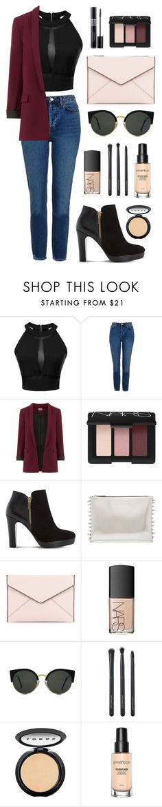 """First step into autumn"" by longarina ❤ liked on Polyvore featuring Topshop, NARS Cosmetics, Dune, Rebecca Minkoff, Christian Dior, RetroSuperFuture, Japonesque, LORAC and Smashbox"