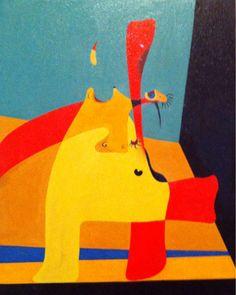 Joan Miró, Flama en l'espai y dona nua