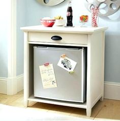 mini fridge cabinet bedroom refrigerator cabinet best mini fridge stand ideas on fruit holder coffee table hidden storage and printer cabinet bedroom … – Dorm Room Mini Fridge Stand, Cool Mini Fridge, Mini Fridge Decor, Refrigerator Cabinet, Small Refrigerator, Microwave Cabinet, Mini Bars, Mini Fridge In Bedroom, Fridge Storage