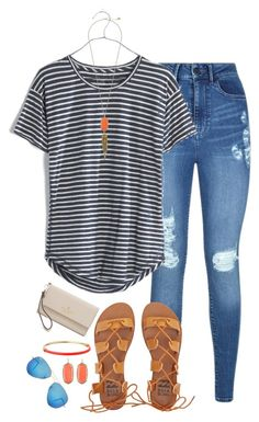 Untitled #836 by thatprepsterlibby on Polyvore featuring Madewell, Lipsy, Billabong, Kendra Scott, Kate Spade and Ray-Ban