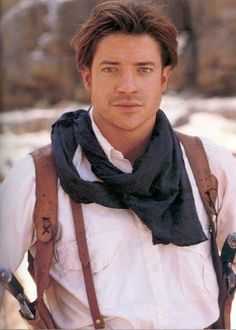 Brendan Fraser, from The Mummy.  LOVED him in this.