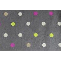Tissu coton enduit, à pois, par 50cm sur 1.50m