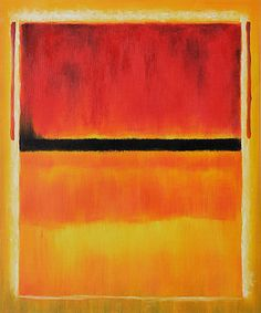Untitled (Violet, Black, Orange, Yellow on White and Red) 1949 Oil Painting by Mark Rothko