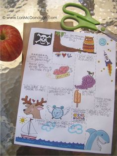 Lunchbox notes apple Free Printable