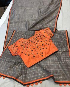 Best 11 Dress Pattern Indian Blouse Designs Ideas For 2019 – SkillOfKing. Silk Saree Blouse Designs, Blouse Neck Designs, Blouse Styles, Silk Sarees, Blouse Patterns, Designer Sarees Collection, Saree Collection, Saree Color Combinations, Work Blouse
