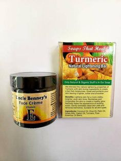 Starter kit Uncle Benney's Vitamin E Creme and Turmeric lightening soap New Starter, Happy Skin, Baking Ingredients, Vitamin E, Turmeric, Starters, Cookie Dough, Healthy Skin, Etsy Shop