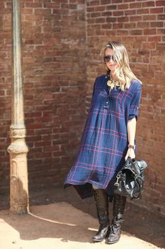 Repin Via: Dallas Shaw in the Homestead Shirtdress #Anthropologie