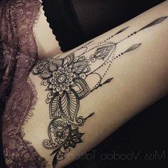Tattoo oberschenkel mandala ideen