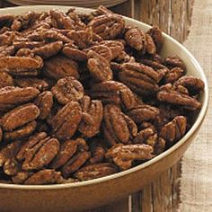 Spiced Pecans Recipe from Audrey Stewart in Forest Hill, Maryland — from Healthy Cooking Magazine