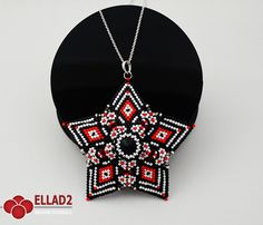 $  Beading Tutorial for Acamar Star Pendant by Ellad2