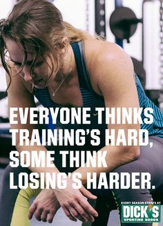 Everyone thinks training's hard, some think losing's harder. #WhoWillYouBe