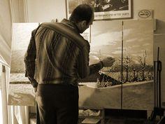 Mont Tremblant peinture collective, Régent Bilodeau et l'AMCQ, la finition de la toile