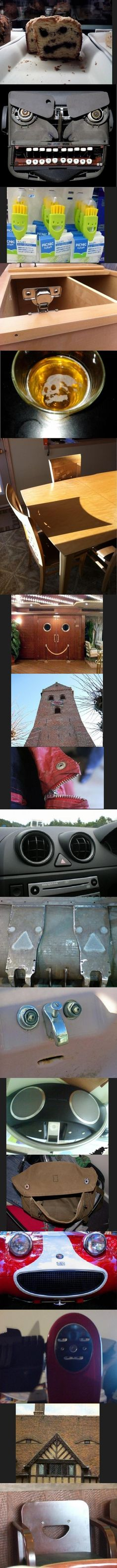Hilarious Pictures of the week, 64 pics. Faces Found In Objects (Compilation)