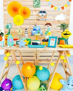 One Year Birthday, Third Birthday, Boy Birthday Parties, Surfer Party, Baptism Themes, Whale Party, Moana Theme, Aloha Party, Kids Party Games