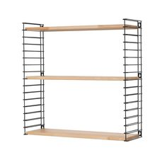 This Tomado wall shelves, 3 shelves made of hevea wood, is the perfect storage for every room. Display your favourite items on the beautiful shelves! Dinner Room, Black Wood, Wall Shelves, Modern, Budget, Outdoor Structures, Storage, House, Furniture