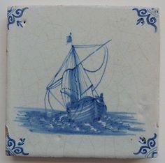 "Top Quality 17th Century Dutch Delft Tile ""SHIP"" C 1675 | eBay"