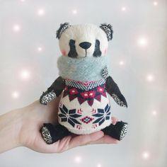 Panda Bear Lee  6inch by KittyAprilHandmade on Etsy