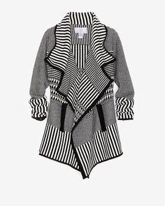ShopStyle: Juliette Jake Exclusive Colorblock Draped Sweater