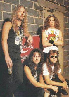 James Hetfield,Kirk Hammett,Lars Ulrich and Jason Newsted 1988