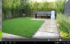 Rock Garden Design Ideas – To Create A Natural And Organic Landscape I like idea of bamboo as screen and the paving, with stones. Modern Small Backyard Design IdeasModern Home Interior Design Large Backyard Landscaping, Small Backyard Design, Modern Backyard, Modern Landscaping, Backyard Patio, Landscaping Ideas, Patio Design, Backyard Designs, Backyard Privacy