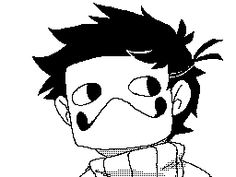 xadorkablemarinax: I made a laughing Zacharie thing on my DSi
