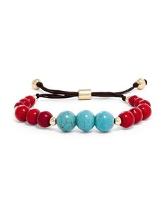 Organic+beads+in+rich+hues+of+berry,+turquoise+and+tigers'+eye+are+glammed+up+with+touches+of+gold.