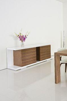 Thite Buffet - White/Walnut  by Dulce Modern Mid Century Furniture on @HauteLook
