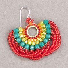 Brick Stitch Earrings Pick up one more (for a total of and add it passing under the thread connecting the the last two Pick up one more (for a total of and add it passing under the thread connecting the the last two beads. Beaded Earrings Patterns, Seed Bead Earrings, Diy Earrings, Beading Patterns, Hoop Earrings, Beading Techniques, Beading Tutorials, Earring Tutorial, Beads Tutorial
