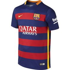 Nike Youth Barcelona Home Stadium Jersey 15 16 Nike Store c32a3a57a5cbc