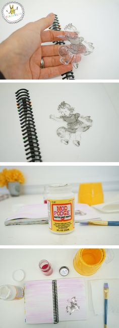 easy image transfer technique - DIY art project for kids using clear tape!