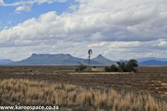 A Grand Karoo road trip on Route the quiet heart of South Africa. Windmill, Road Trips, Travel Ideas, Graham, South Africa, Beautiful Places, Gardens, Paintings, Mountains