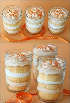 Orange Dreamsicle Cupcakes - 8 Heavenly Cakes and Desserts in Jars That Won't Let You Down