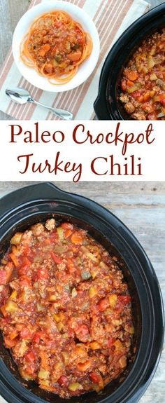 Healthy Paleo Turkey Chili is a tasty, easy meal made in the crockpot. Loaded with vegetables, spices & lean turkey – it's going to be your new favorite dinner recipe for fall/winter!