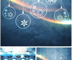 Abstract decorative Christmas backgrounds vector