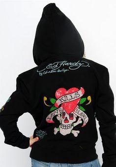 Ed Hardy love kills slowly black girl kids hoodies Niñas De Raza Negra 8ac24a25a3d88