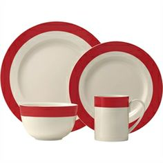 Classic Band Red 4 pc. Place Setting