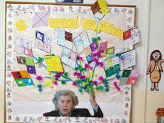 φτιάξαμε και ατομικούς χαρταετούς και τους δώσαμε όλους στον Κο Μίκη να τους κρατάει! Carnival Crafts, Carnival Masks, Frame, Kites, Blog, Classroom Ideas, School, Decor, Carnival