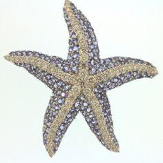18K White Gold Diamond & Tanzanite Starfish Brooch : Lot 32