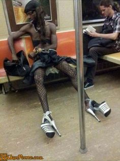 Meanwhile in the subway - Lmao!